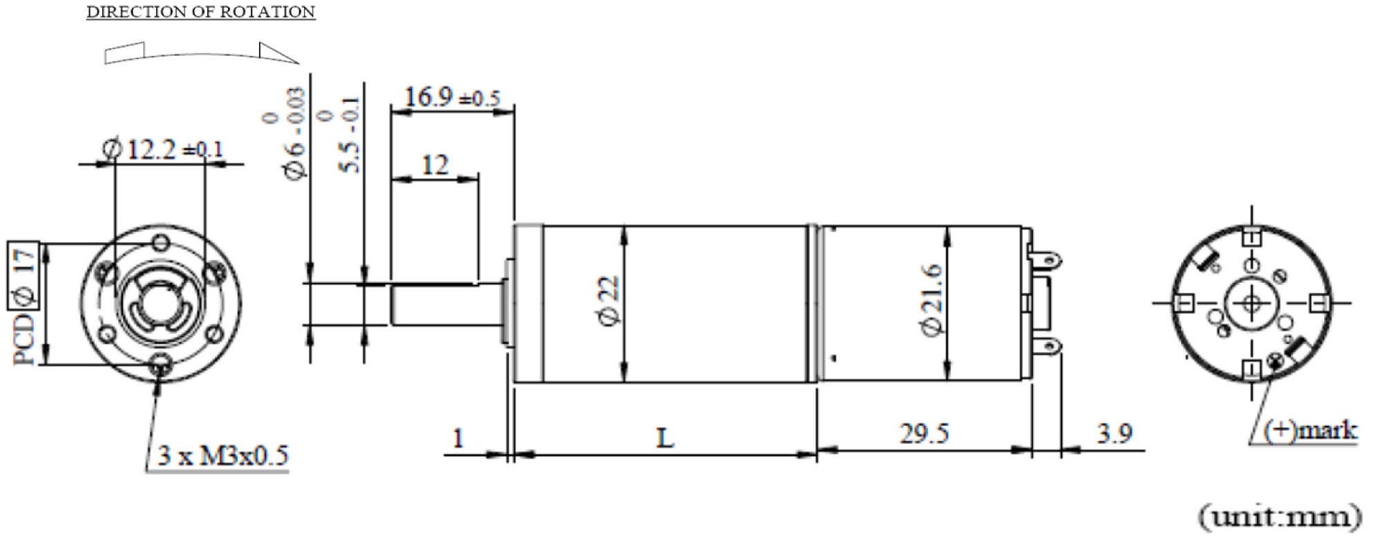 PKB22G Appearance Dimensions