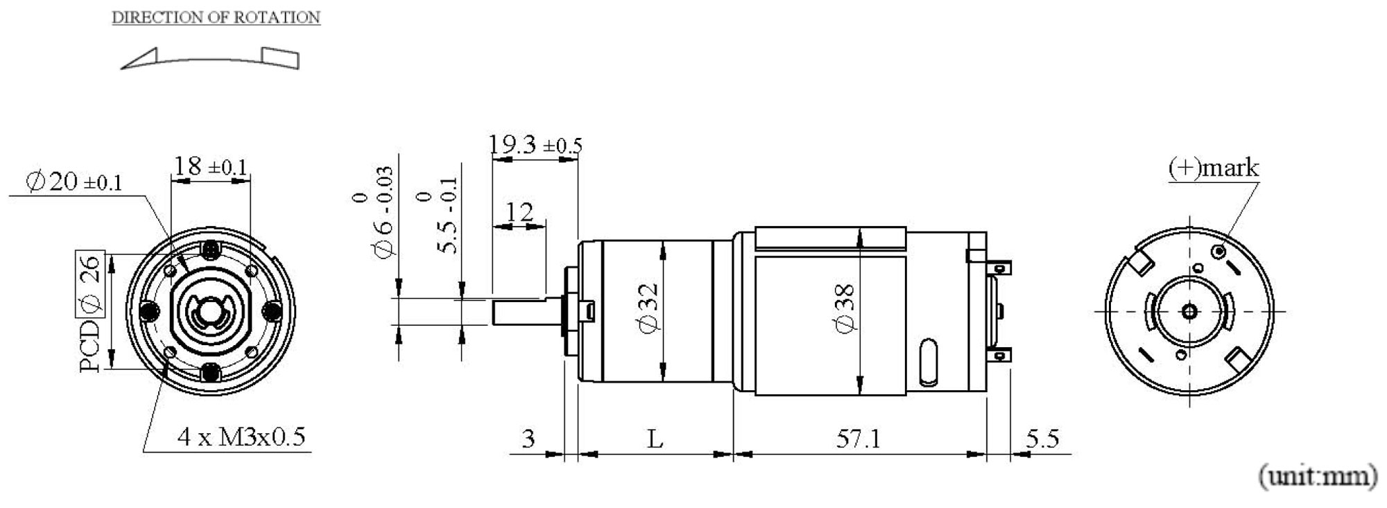 PK32K5SP Appearance Dimensions