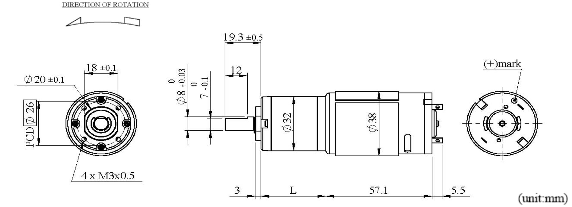 PZ32K5SP Appearance Dimensions
