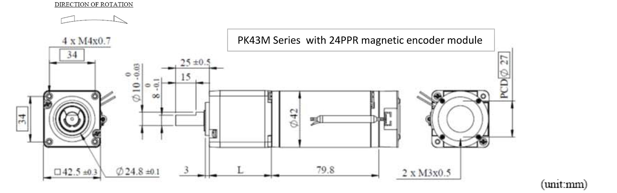 PK43MDE Appearance Dimensions