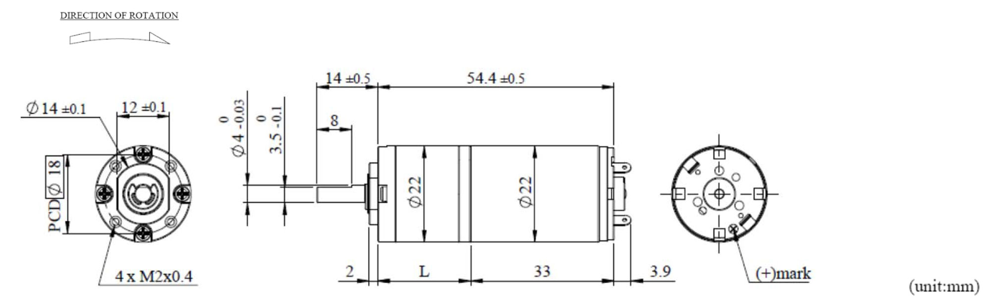 Dia 22mm dc coreless planetary gear motor manufacturing for Dc gear motor specifications
