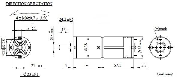 PK38K Appearance Dimensions